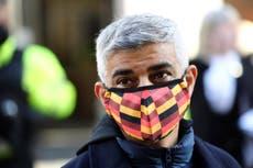 Sadiq Khan calls on Boris Johnson to keep masks in place on public transport