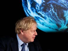 Cop26: Boris Johnson told to 'get off sun lounger' and tell truth about scale of climate crisis