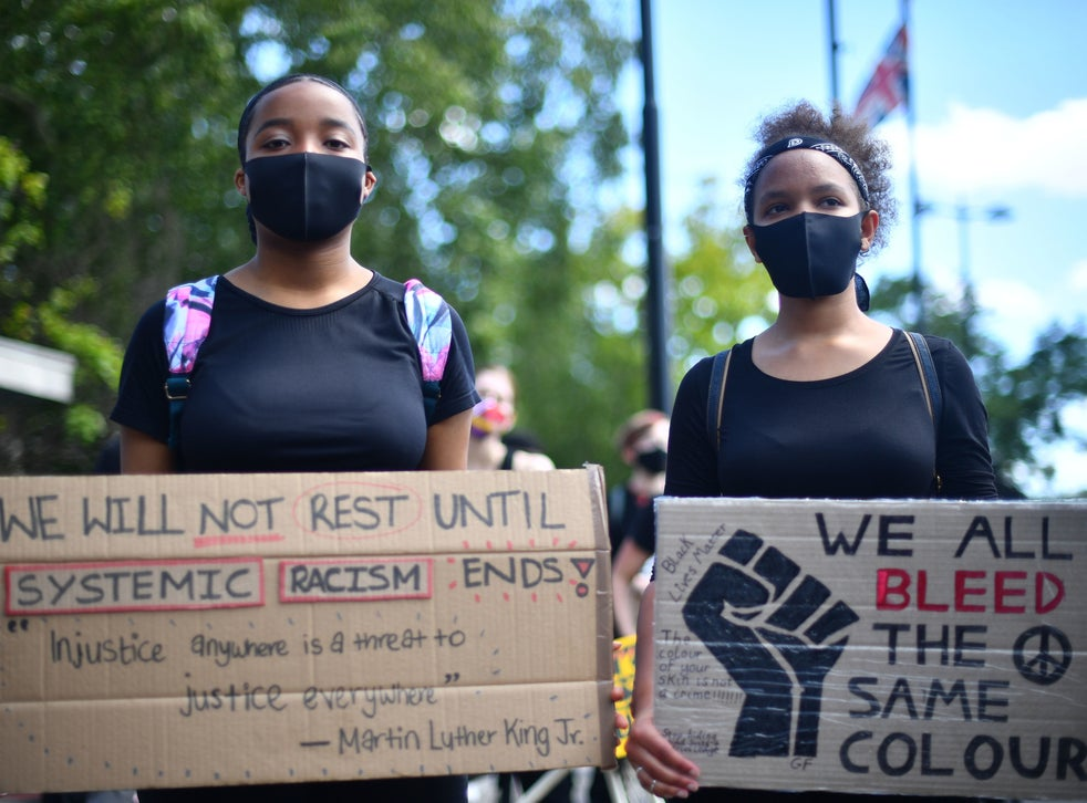 A Black Lives Matter protest in London in July
