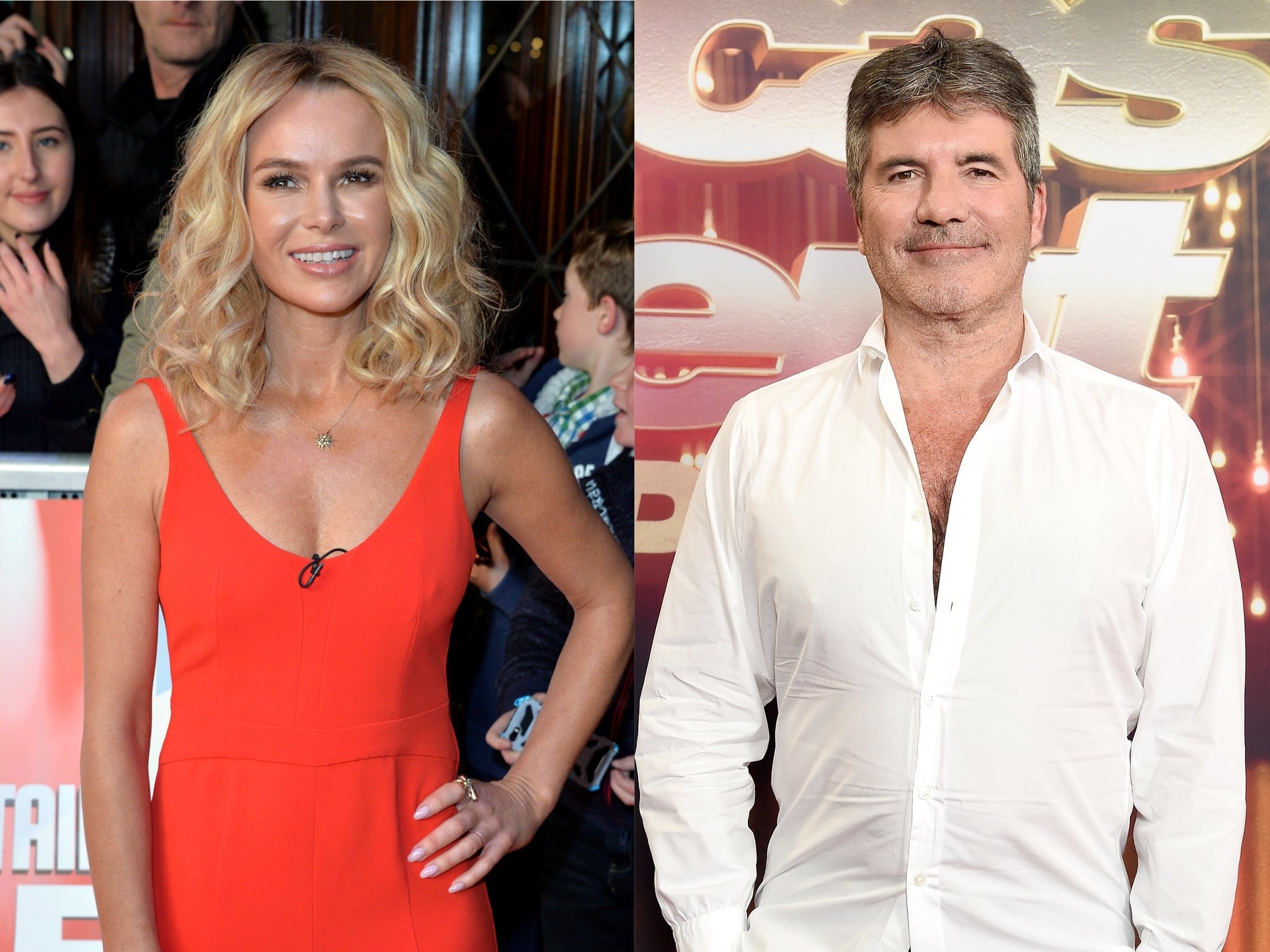 Amanda Holden Feared Simon Cowell S Bike Accident Could Be Fatal The Independent