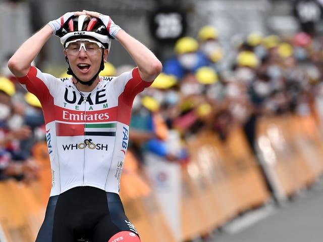 Tadej Pogacar claims the ninth stage of the Tour de France on 6 September