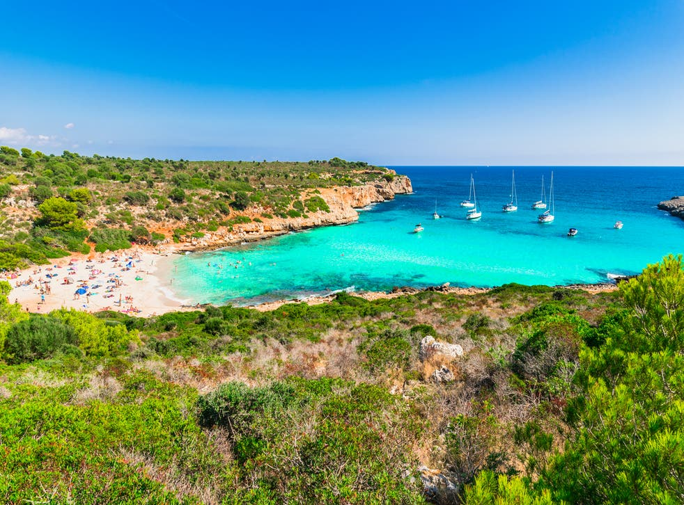 The illegal campers were found at Cala Varques in Mallorca