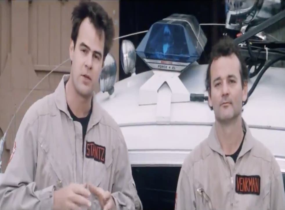 Aykroyd (left) and Murray pitch Ghostbusters to independent cinemas