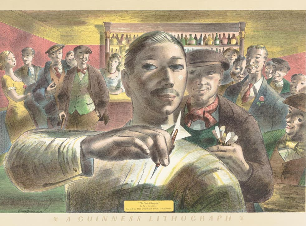 Barnett Freedman, 'The Darts Champion' (for the Guinness Prints), 1956, lithograph on paper