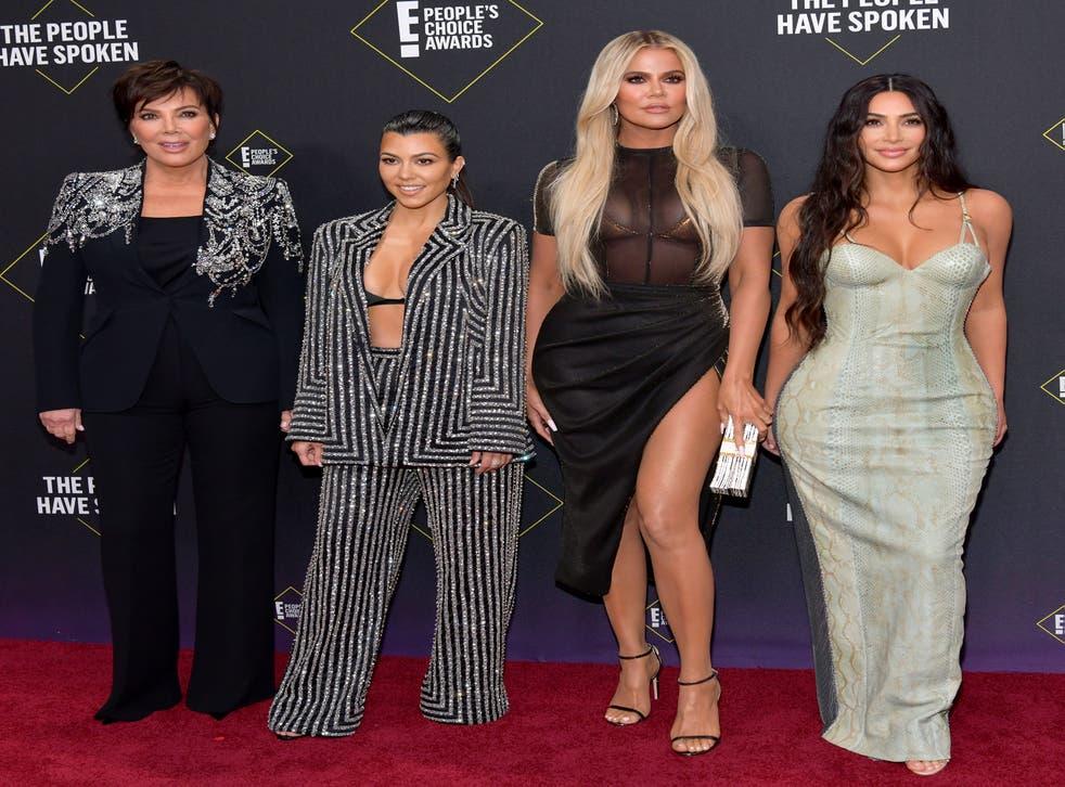 Kris Jenner, Kourtney Kardashian, Khloé Kardashian and Kim Kardashian at the E! People's Choice Awards on 10 November 2019 in Santa Monica, California.