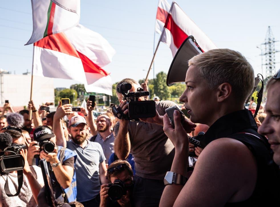 Kolesnikova remains imprisoned in Minsk