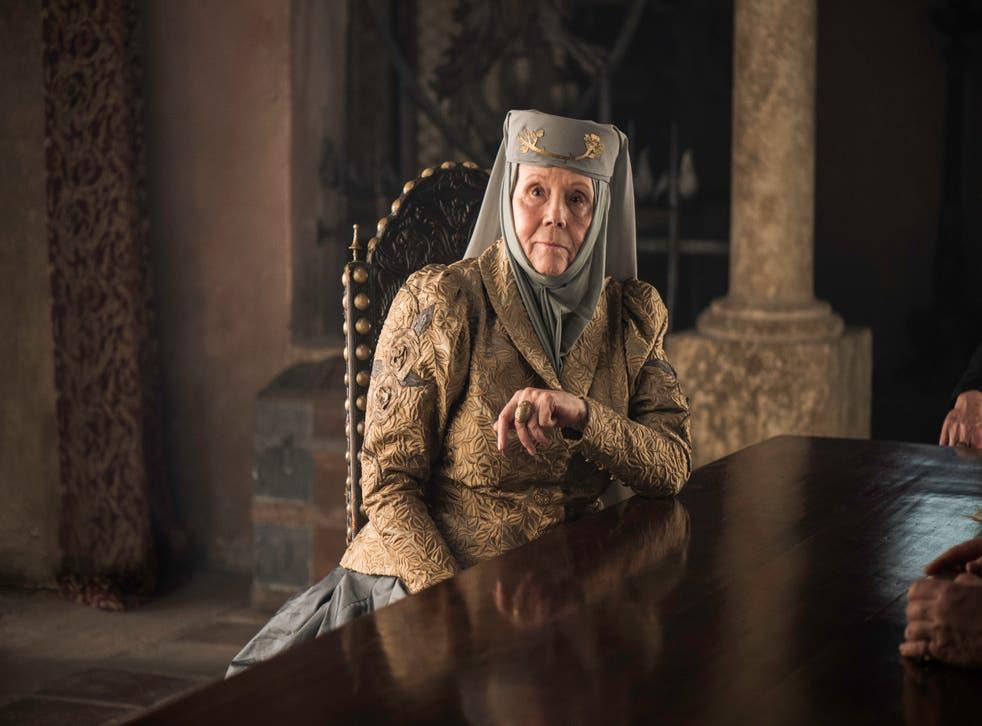 Rigg como Lady Olenna Tyrell en 'Game of Thrones'