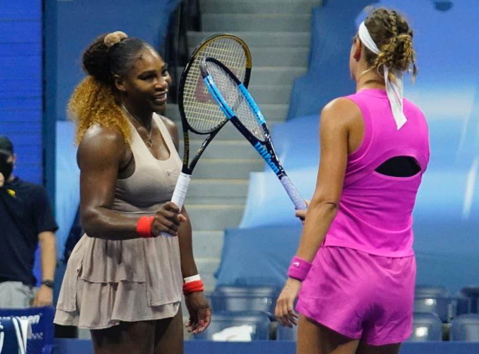 Williams congratulates Azarenka on her win