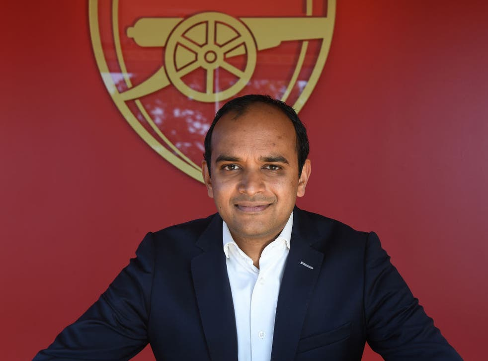 <p>Arsenal chief executive Vinai Venkatesham</p>