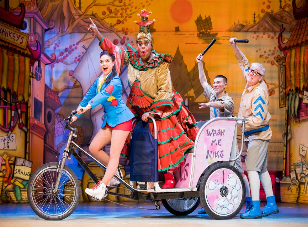 The cast of 'Aladdin' at the Hackney Empire