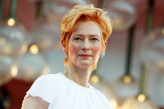 Swinton at the opening ceremony of the 77th Venice Film Festival on 2 September