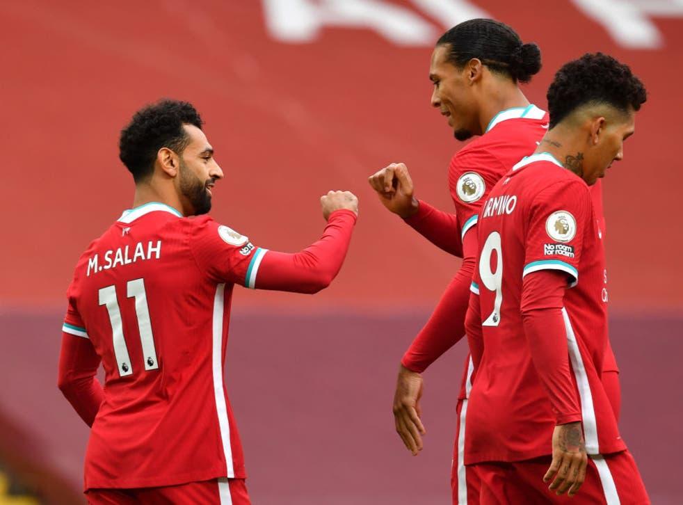 Mohamed  Salah marcó tres tantos durante la tarde