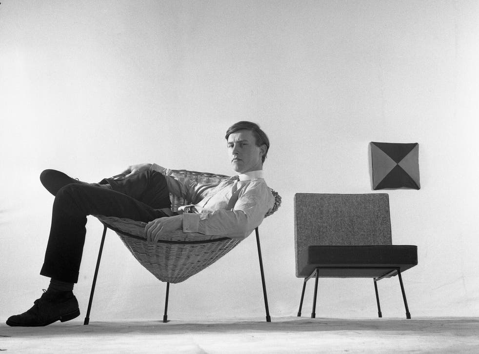 Conran and one of his earliest designs, the Cone Chair, in the 1950s