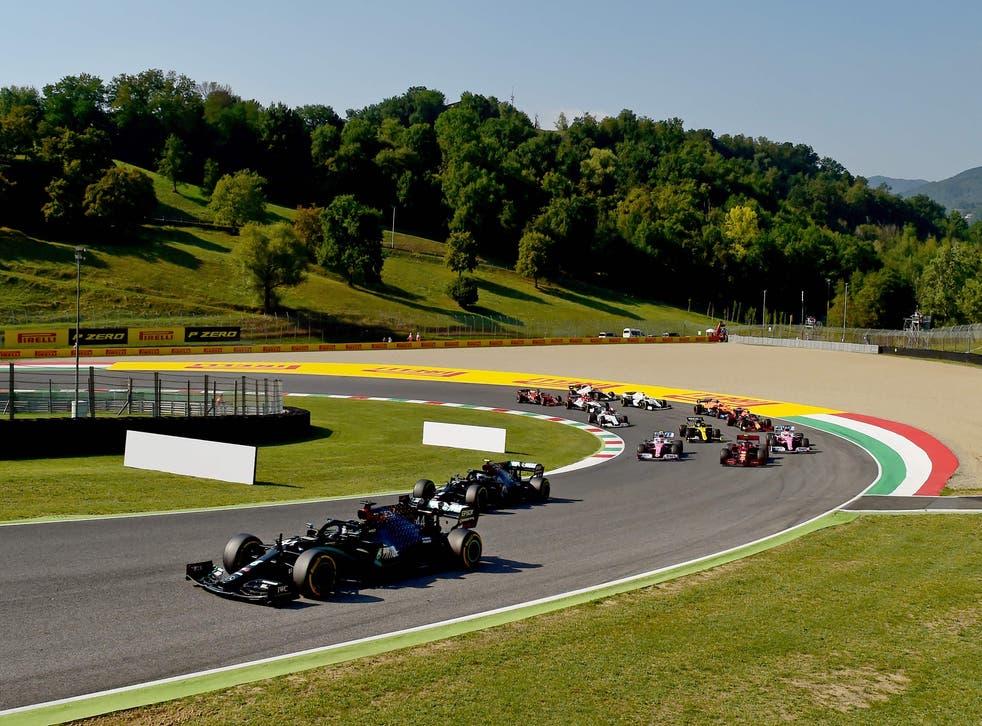 Lewis Hamilton durante el GP de Toscana
