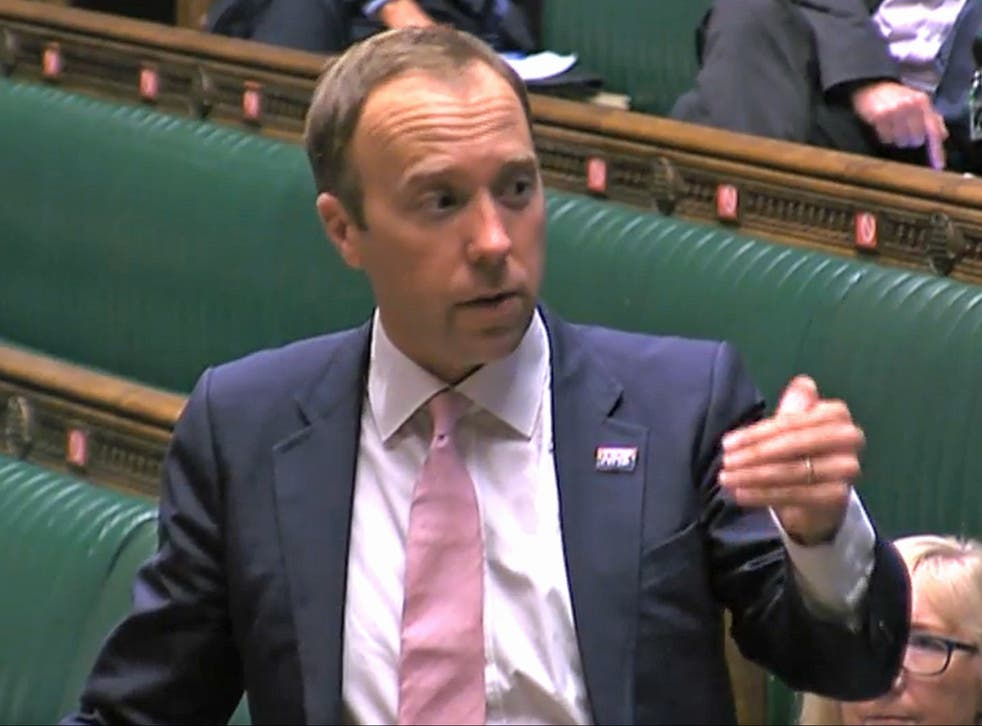 Health secretary Matt Hancock was questioned by MPs on Tuesday over the state of the government's testing system