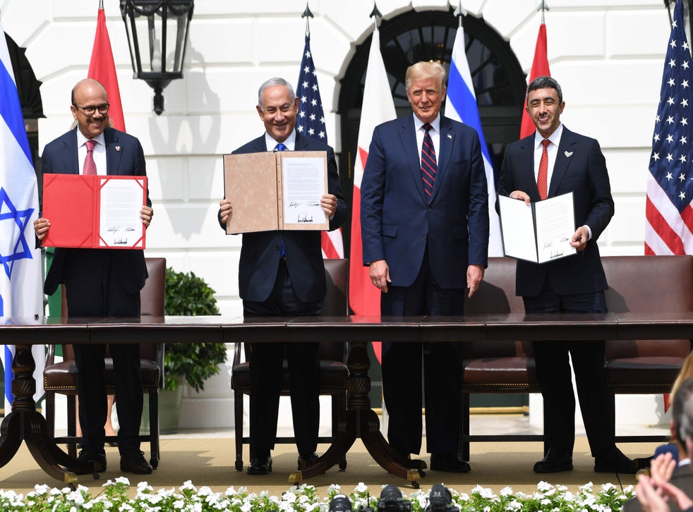 UAE, Bahrain and Israel sign historic 'peace deal' | The Independent