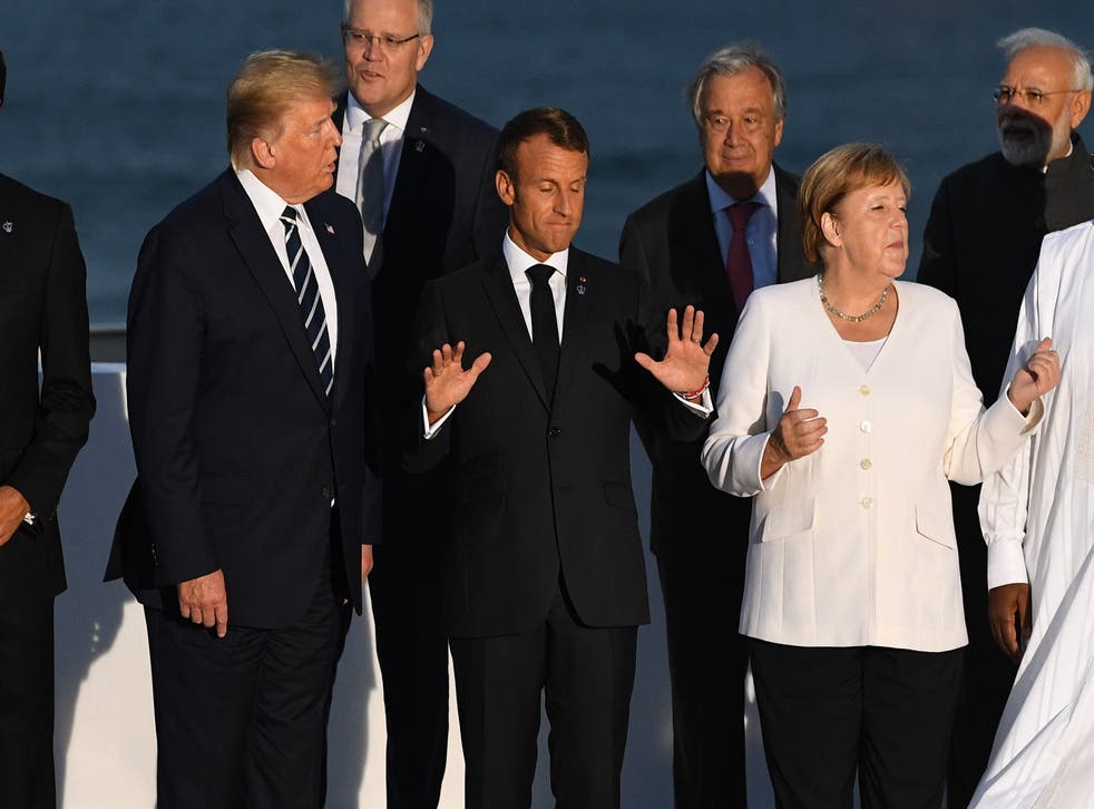 <p>Heads of government attending the G7 Summit in Biarritz, France, in August 2019</p>