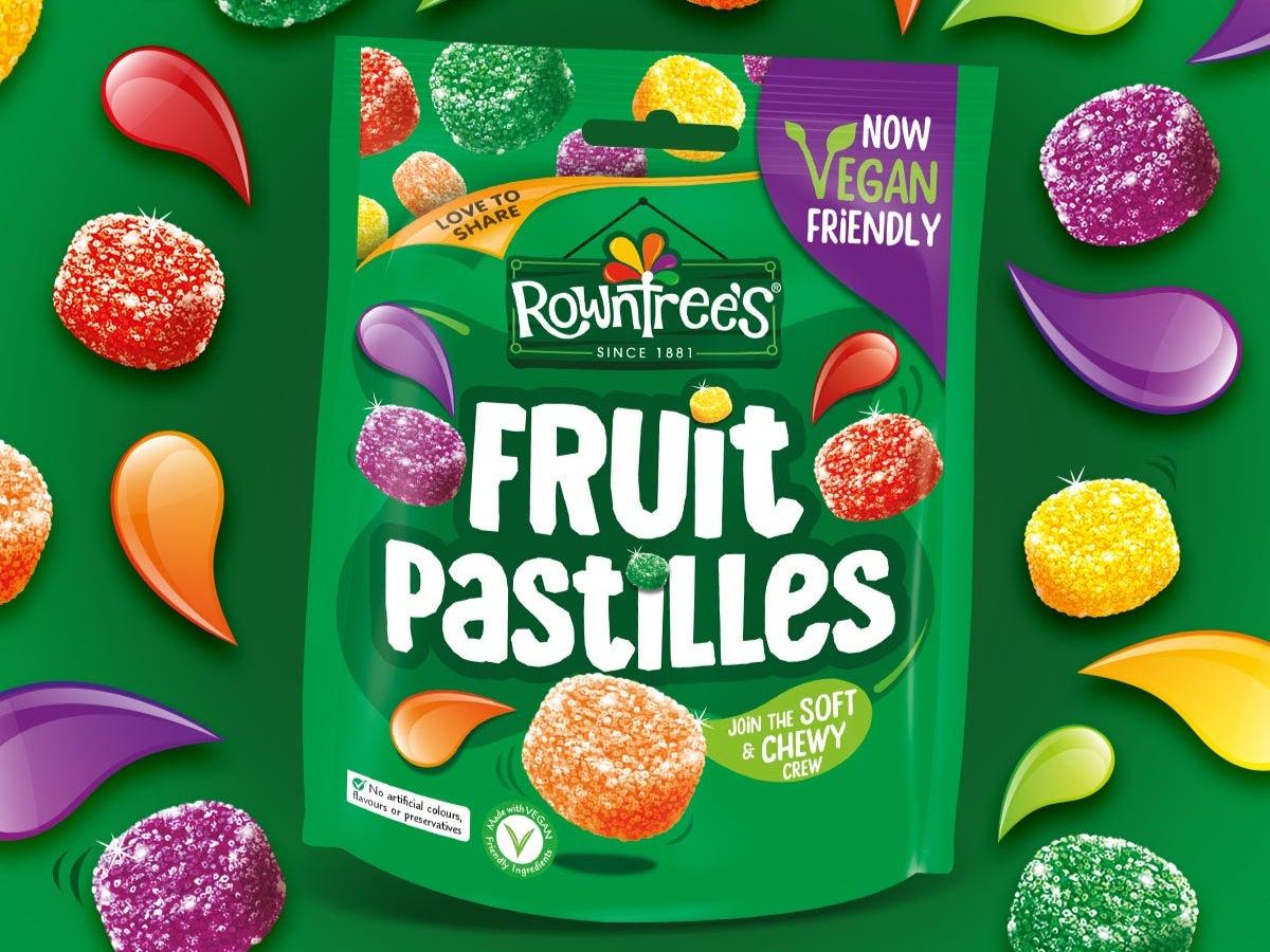 Rowntree's makes Fruit Pastilles vegan-friendly