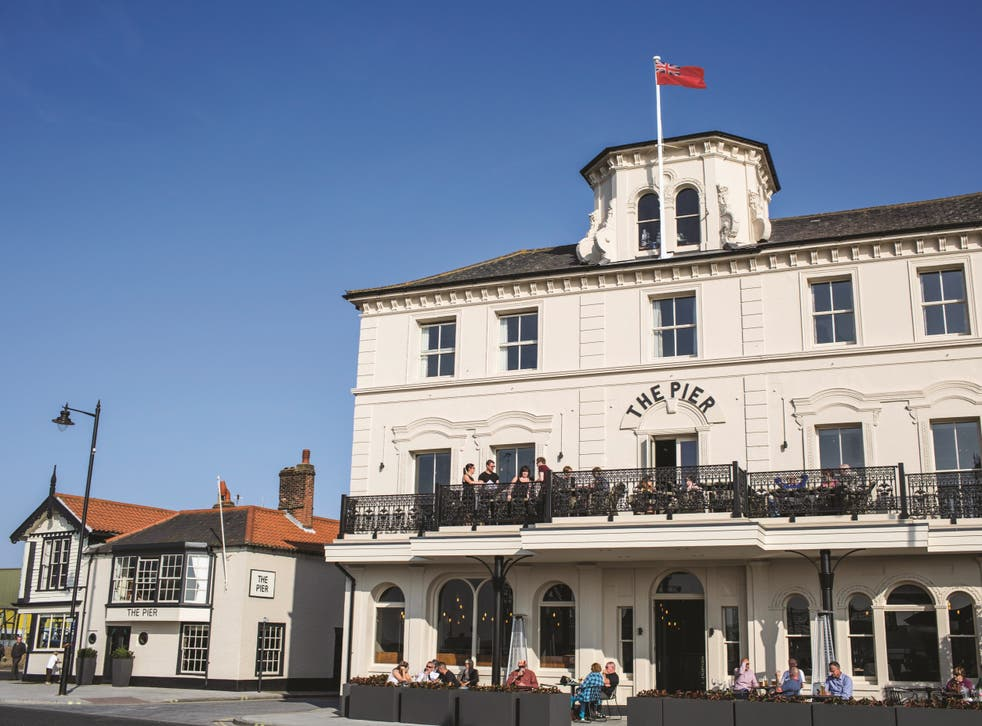 The boutique Pier hotel at Harwich