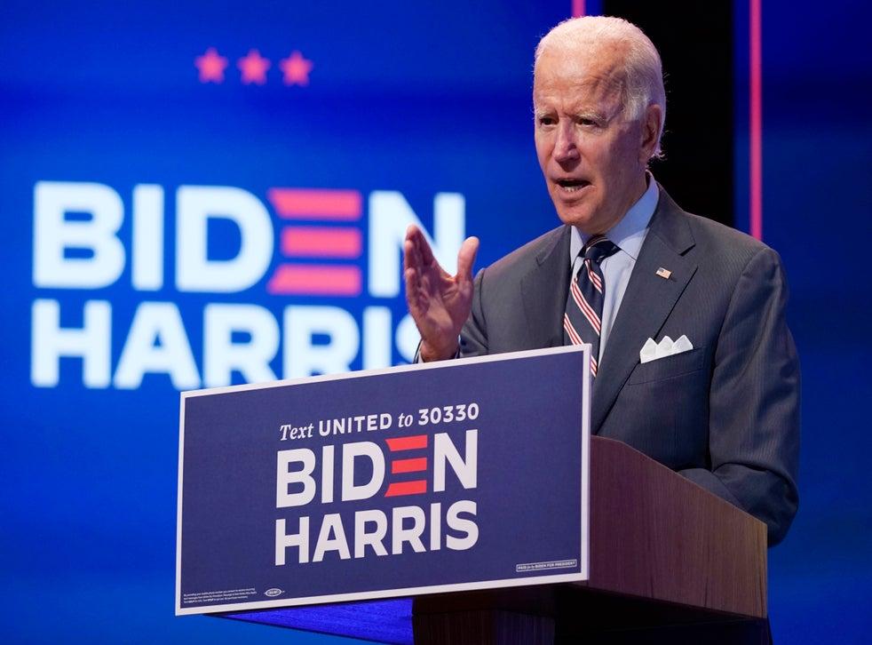 Joe Biden, the Democratic presidential nominee