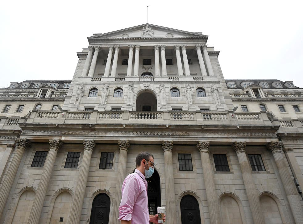 The Bank of England said economic data was indicating a stronger-than-expected recovery in recent weeks