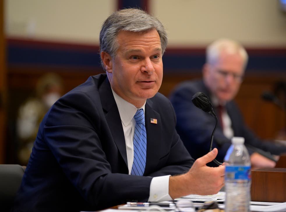 Director Christopher Wray testifies before the House Homeland Security Committee