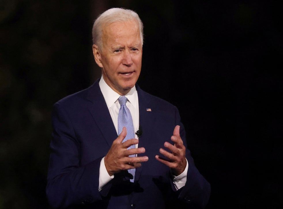 Democratic presidential nominee Joe Biden, speaking on Thursday