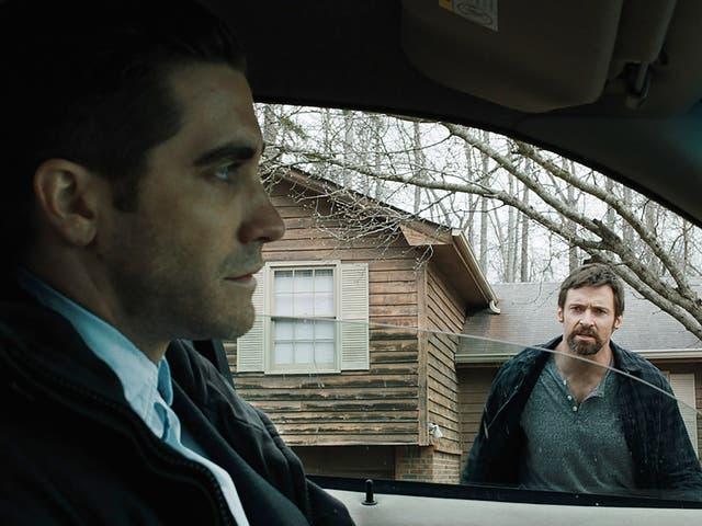 Jake Gyllenhaal y Hugh Jackman en 'Prisoners'