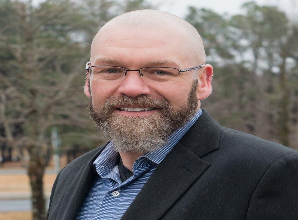 Eric Morrison, quien ganó una elección primaria en Delaware esta semana.