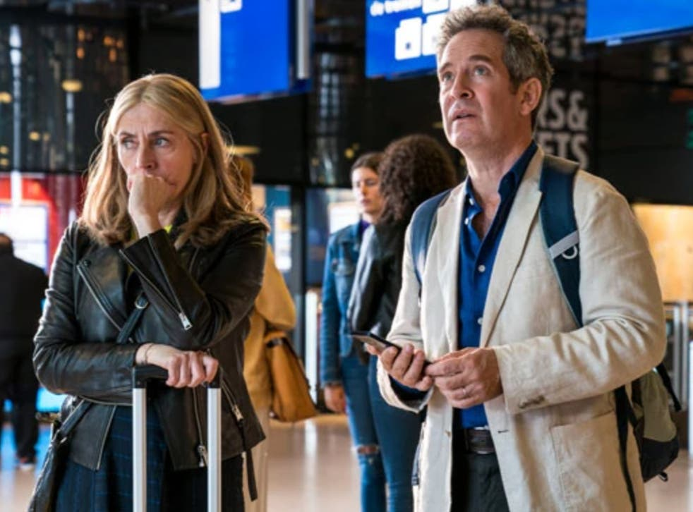 Saskia Reeves and Tom Hollander in BBC One drama 'Us'