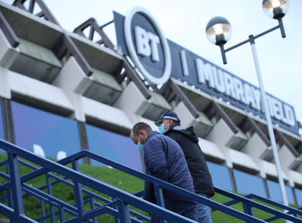 An Edinburgh academy player has tested positive for Covid-19