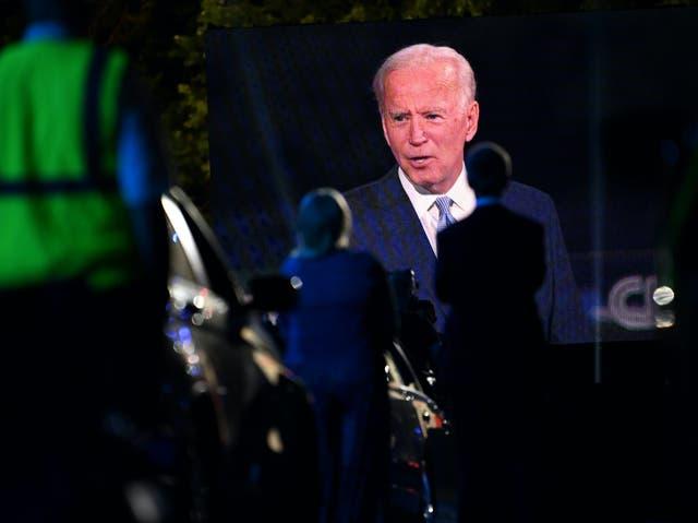 El candidato presidencial demócrata Joe Biden en un ayuntamiento de CNN el jueves por la noche.