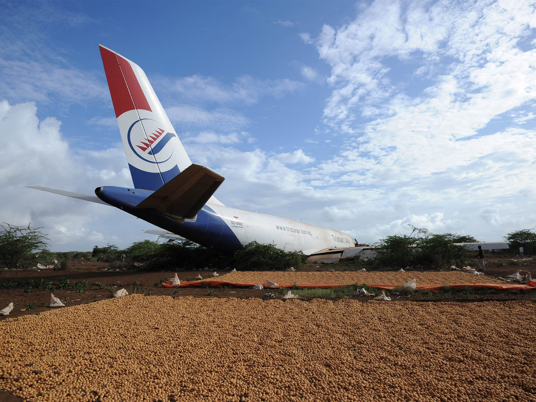 Three injured as cargo plane crashes at airport in Somalia's capital - independent