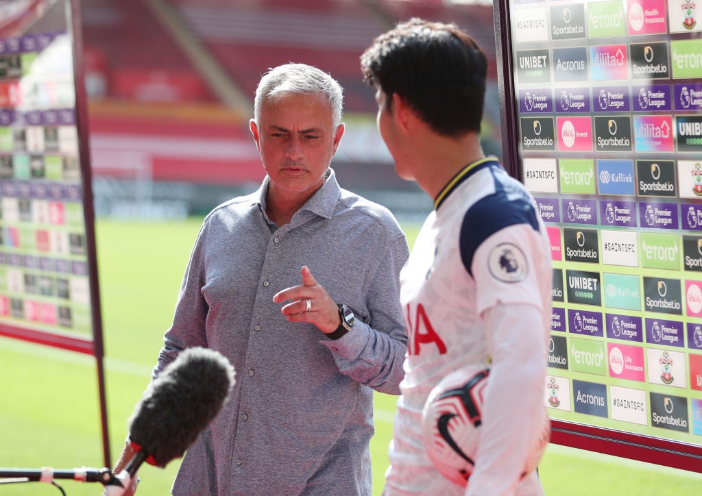 Jose Mourinho praises Spurs attack with Son Heung-min 'on fire' and Harry Kane bringing 'big dynamic' edge - The Independent