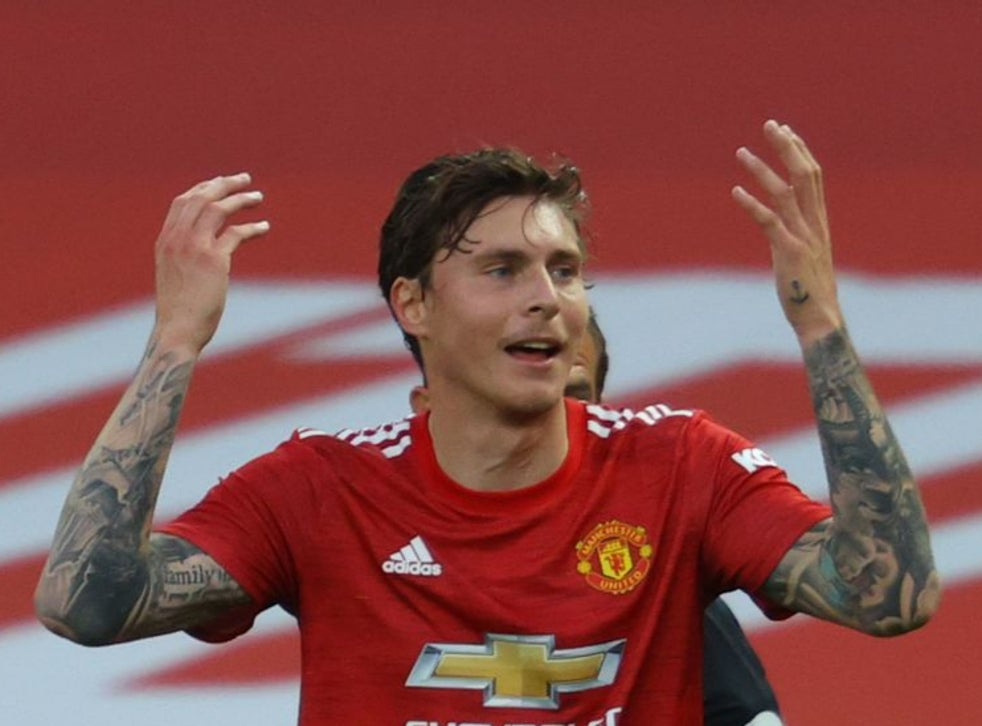 Lindelof protests after conceding a penalty