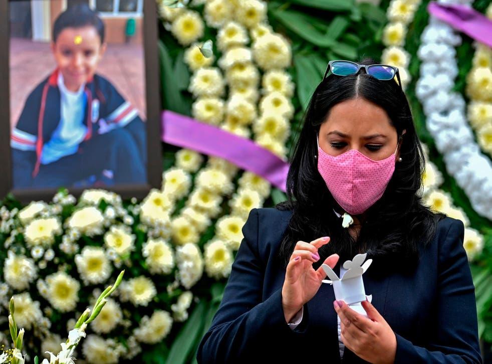 Miriam Rodriguez, madre del pequeño José Eduardo, quien perdió la vida a los 7 años el 19 de septiembre de 2017 durante el sismo en Ciudad de México.