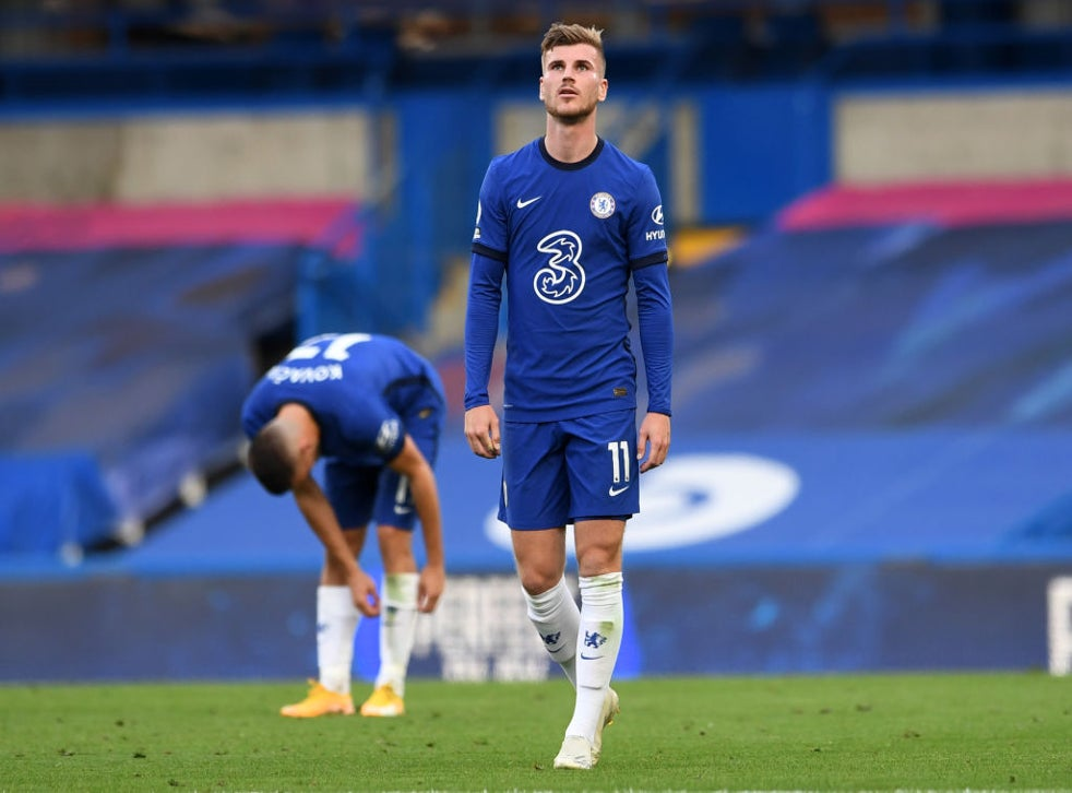 Timo Werner reacts as Chelsea suffer defeat
