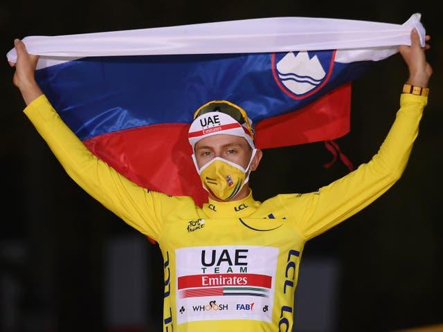 Pogacar se llevó el Tour de Francia 2020.
