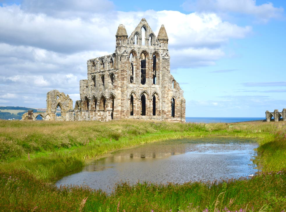 <p>The spectral ruins of Whitby Abbey</p>