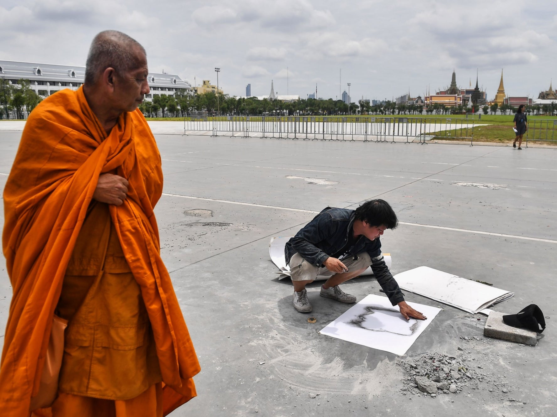 Thai protesters in uproar as anti-monarchist plaque they placed vanishes