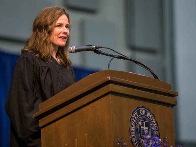 Amy Coney Barrett, a federal judge, is rumored to be on Donald Trump's shortlist to replace Ruth Bader Ginsburg on the Supreme Court.