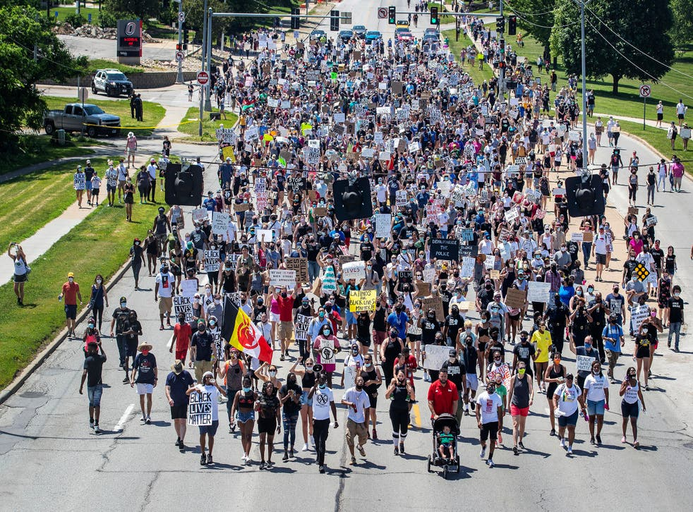 Crowds marched in memory of James Scurlock, who was killed in Omaha, Nebraska amid protests