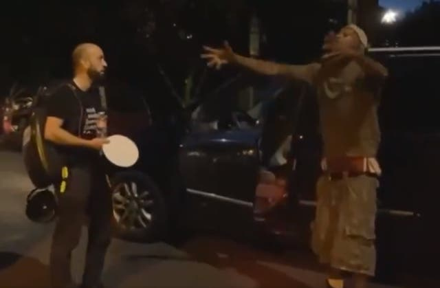 Man accused protesters of not being from the city