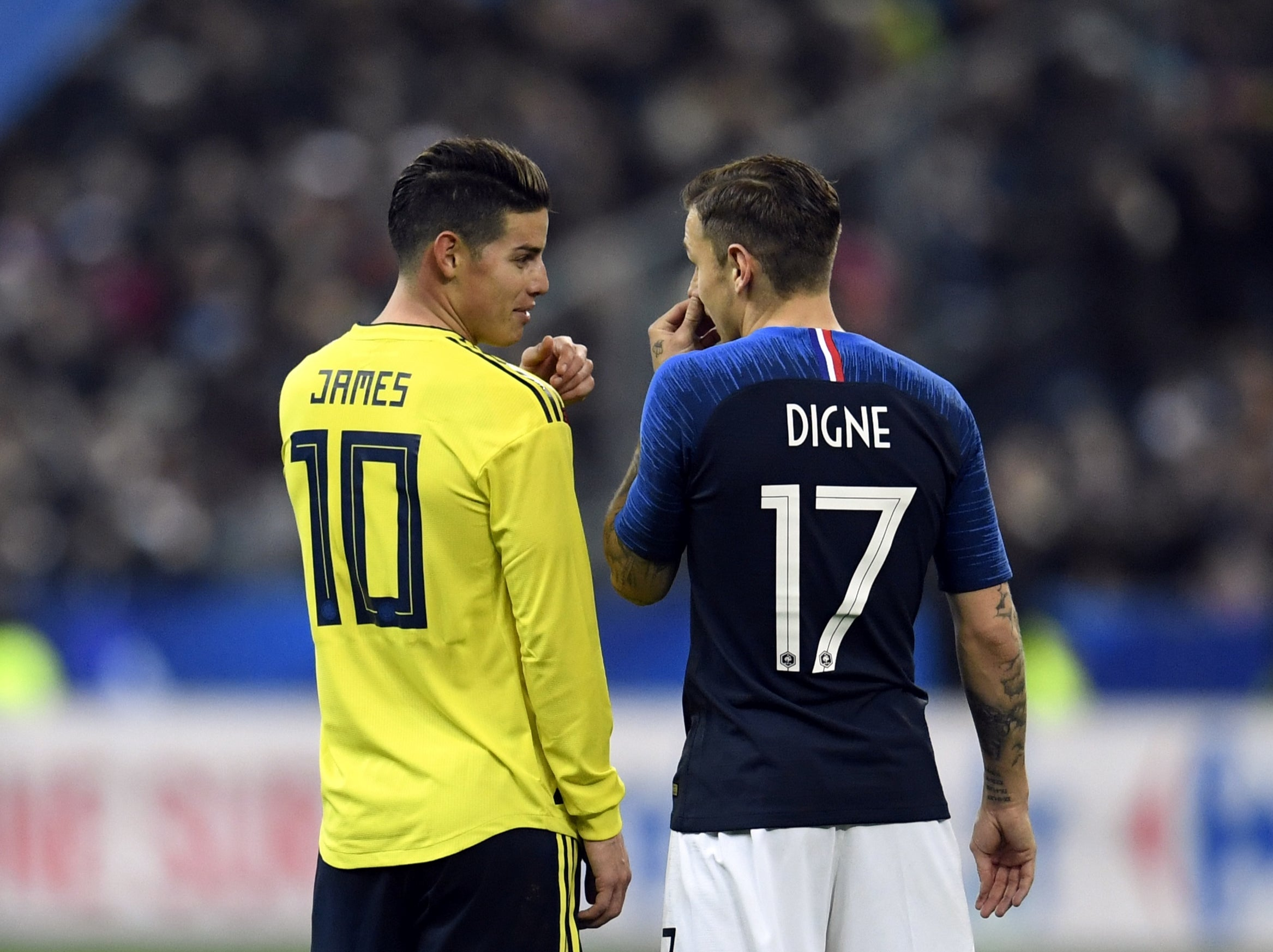 Everton S Lucas Digne Not Surprised By Impact Of World Class Arrivals James Rodriguez Allan And Abdoulaye Doucoure The Independent