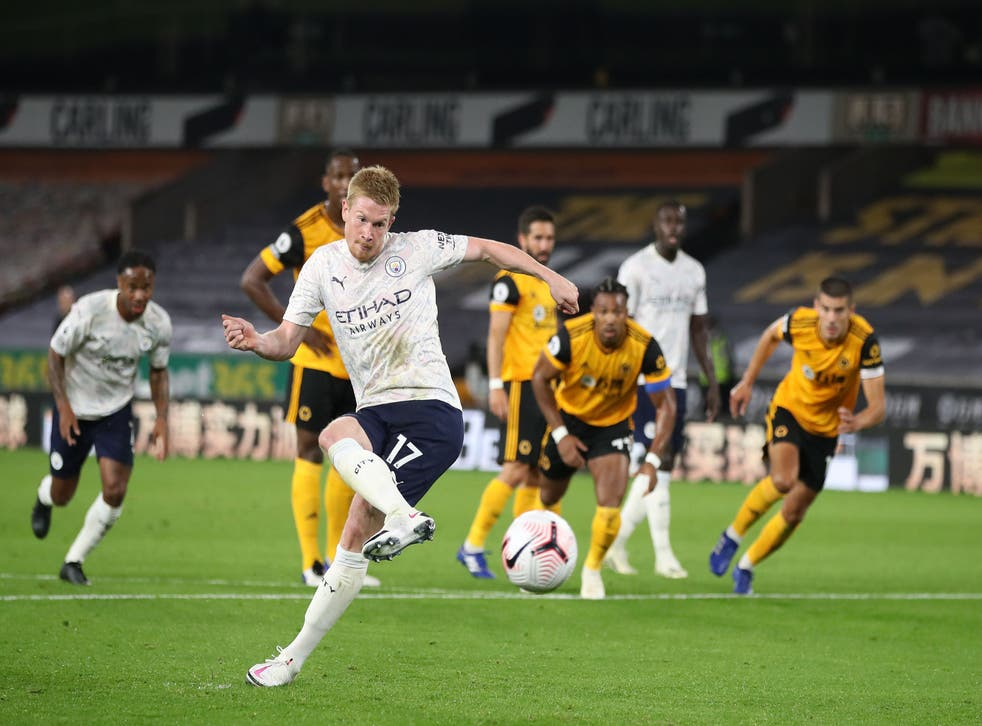 Kevin De Bruyne opened the scoring from the spot