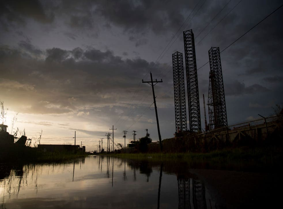 La tormenta tropical Beta provocó inundaciones en Texas.