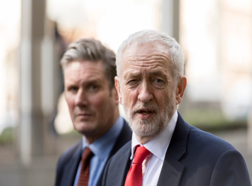<p>Sir Keir Starmer [L] is seeking to change leadership rules that saw the election of his predecessor Jeremy Corbyn [R] as Labour leader </p>