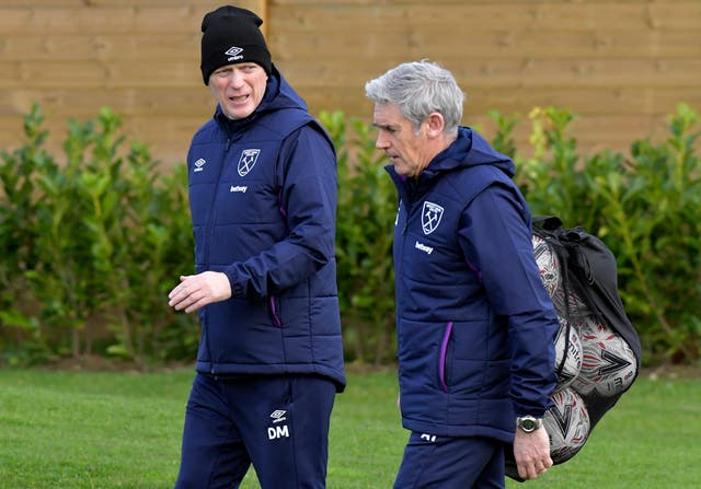 West Ham manager David Moyes (left) with assistant coach Alan Irvine