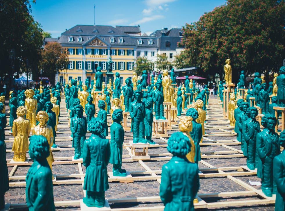 An art installation by Ottmar Horl. Why is Beethoven so revered in Bonn?