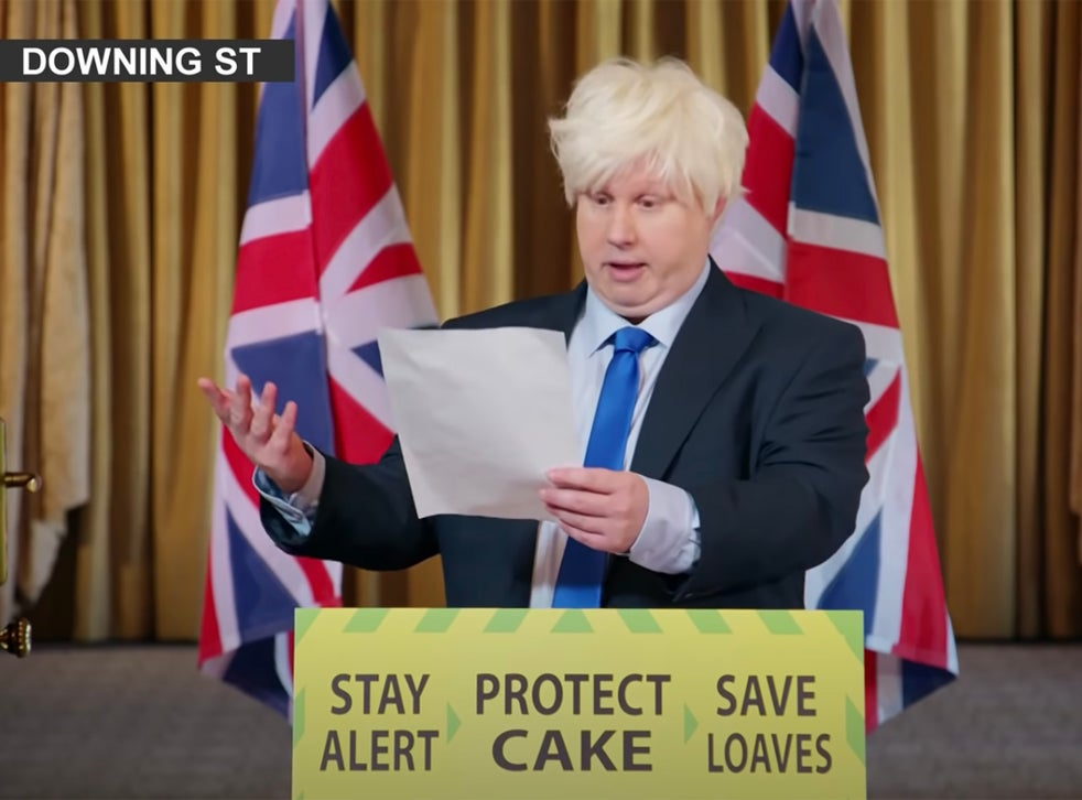 Matt Lucas impersonates Boris Johnson on 'The Great British Bake Off'